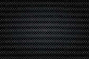 Black dotted seamless background vector