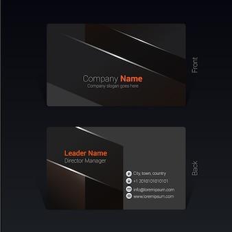Black elegant business card