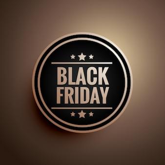 Black floating badge for black friday
