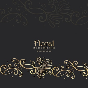 Black floral luxury background