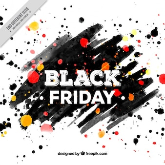 Black friday background of brushstrokes and paint stains