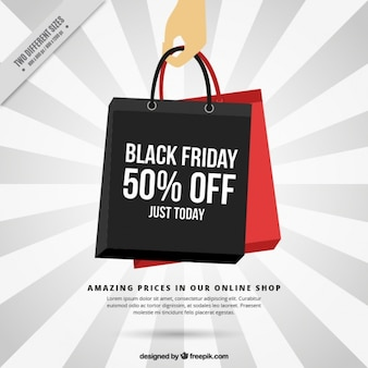 Black friday background of shopping bags