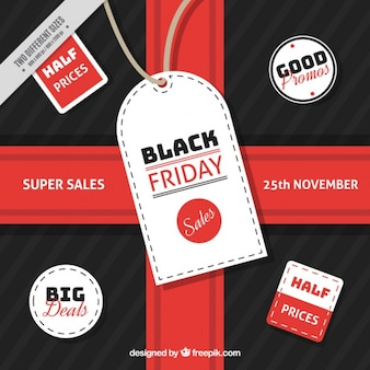 Black friday background with a big label
