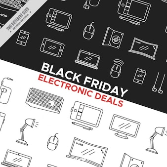 Black friday background with black and white elements