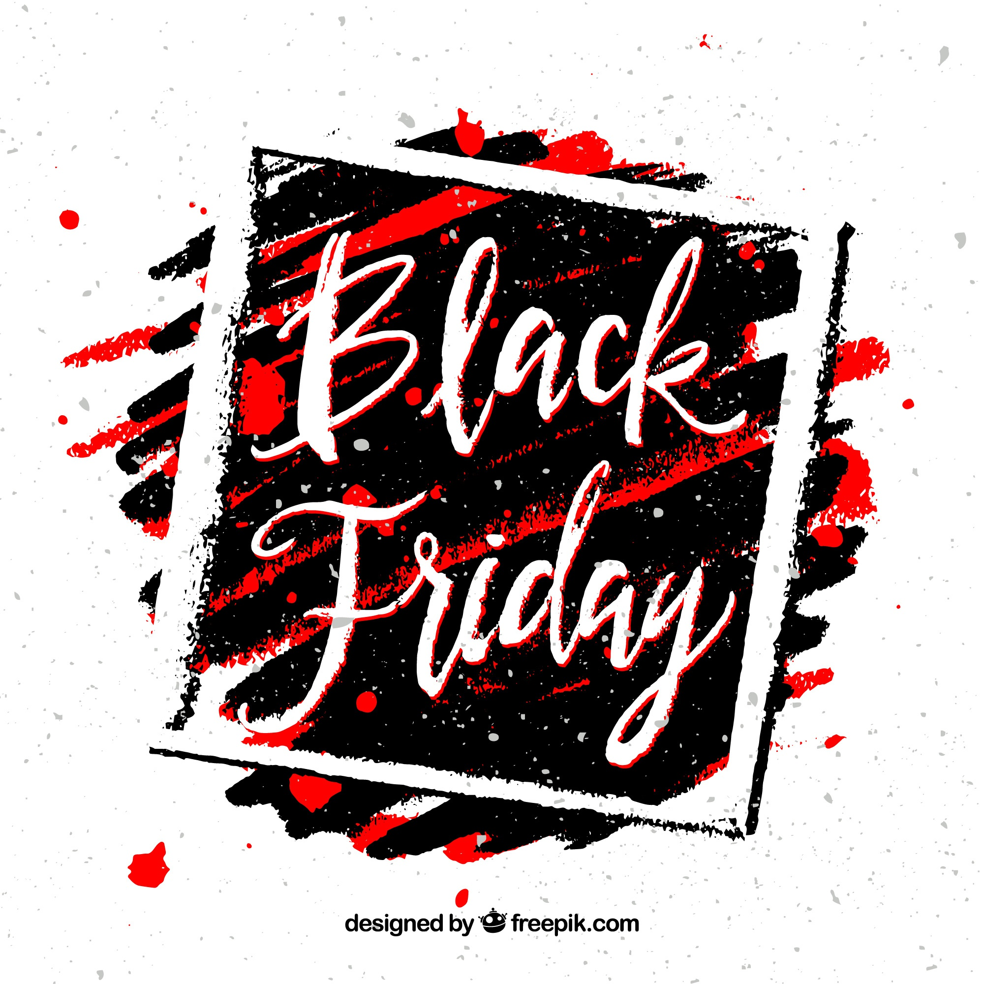 Black friday background with frame