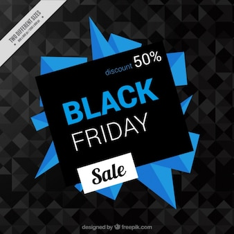 Black friday background with geometric figures