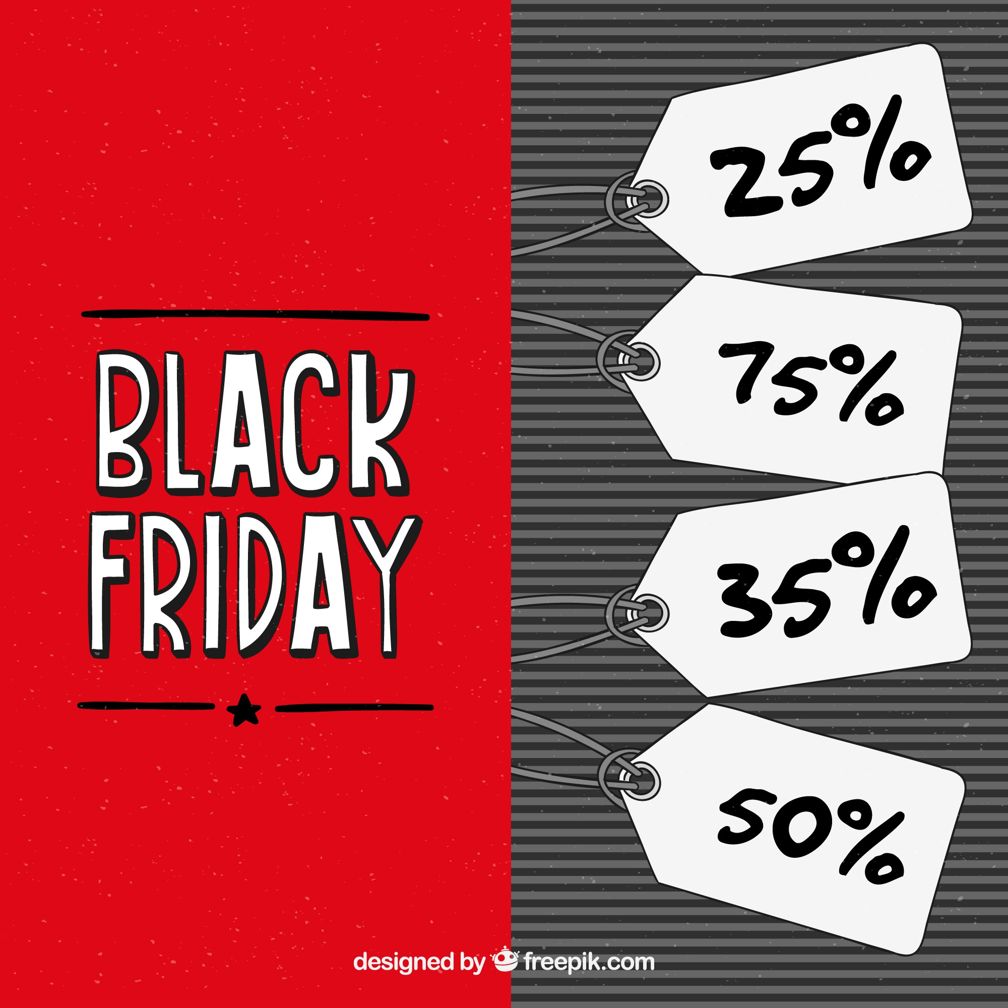 Black friday background with labels