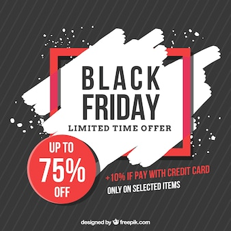 Black friday background with red details