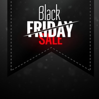 Black friday background with ribbon
