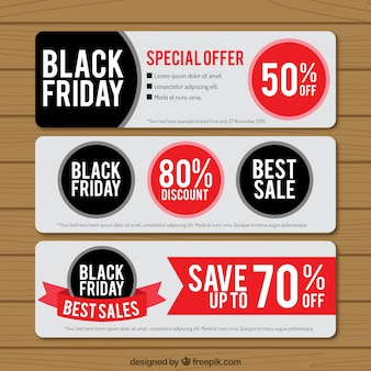 Black friday banners pack