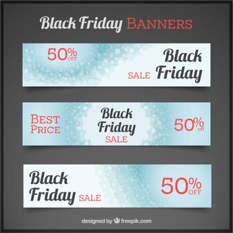 Black friday banners with abstract background