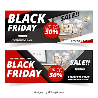 Black friday banners with image