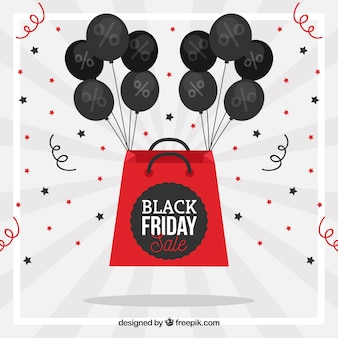 Black friday concept with black balloons