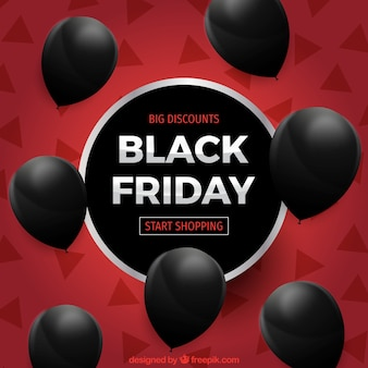 Black friday design with seven balloons