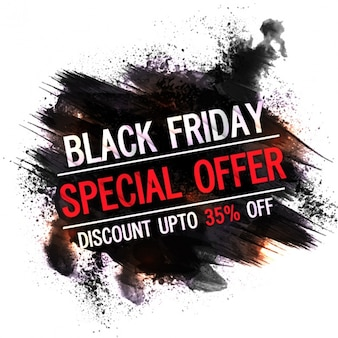 Black friday label with special offer