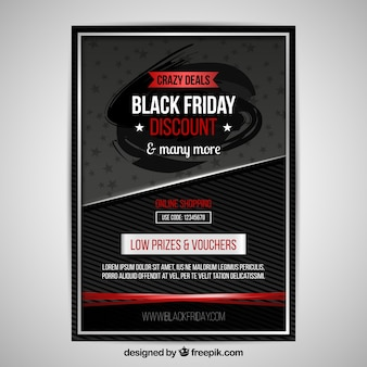 Black friday poster with modern style