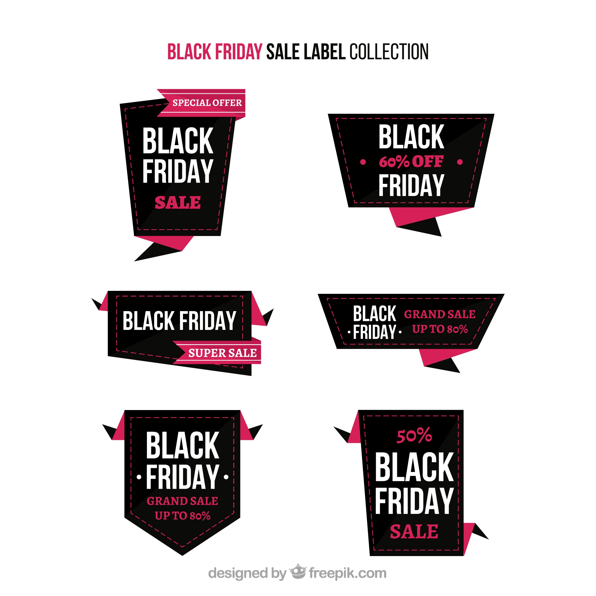 Black friday sale label collection