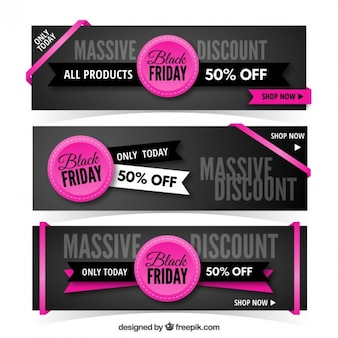 Black friday sales banners pack