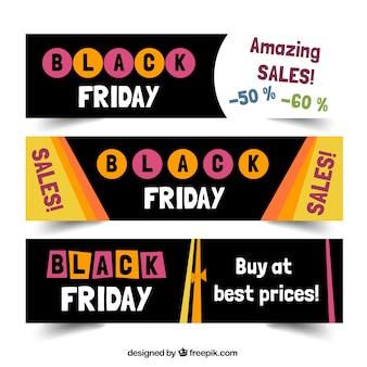 Black Friday Sales Banners Set