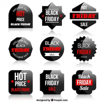 Black Friday Stickers Set