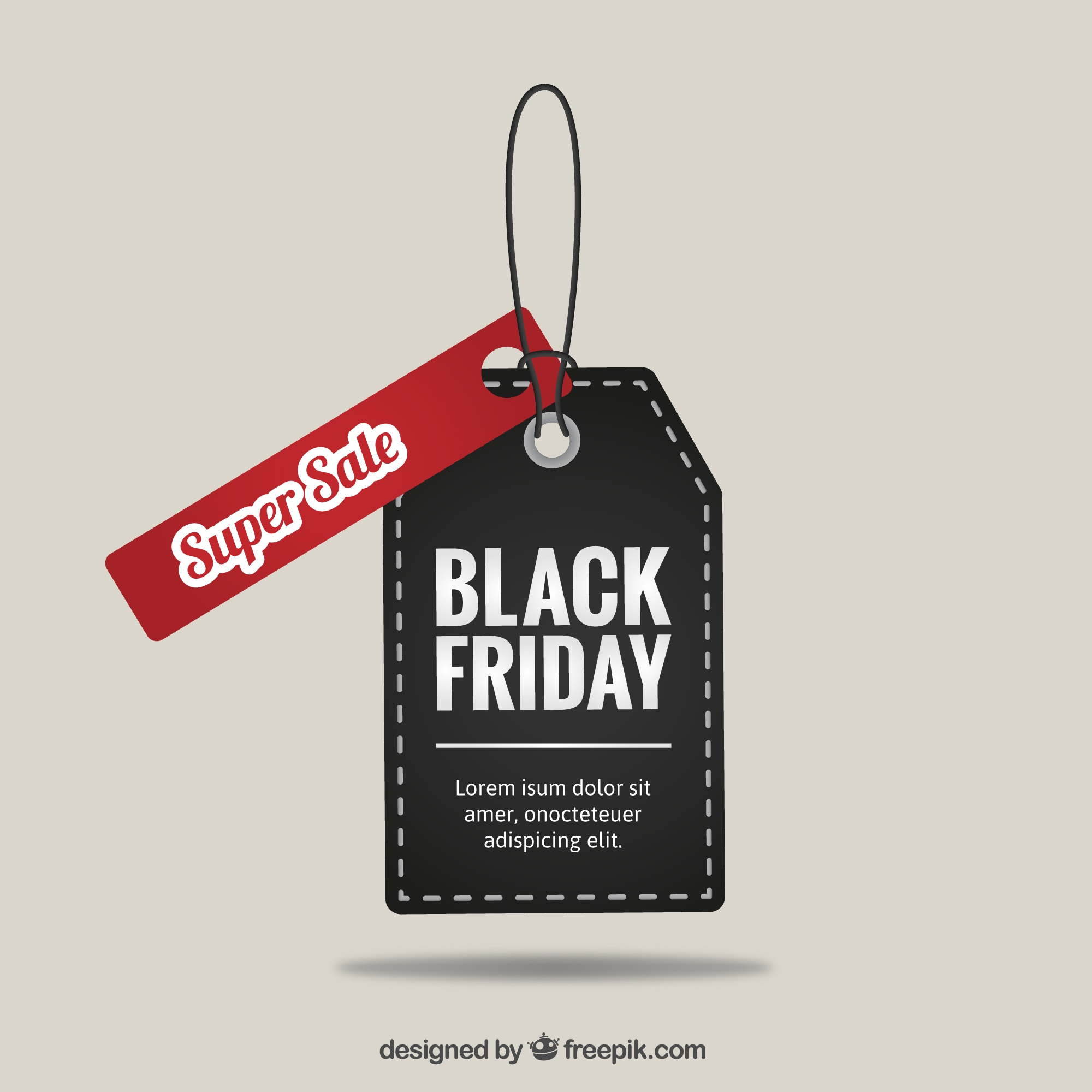 Black Friday super sale tag vector