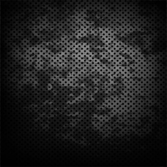 Black grunge background with dots