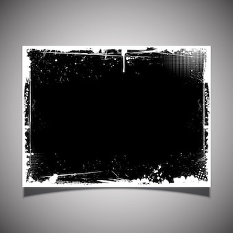 Black grunge poster