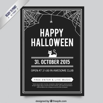 Black halloween poster