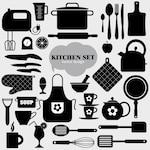 Black kitchen elements