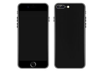 Black Mobile phone vector template