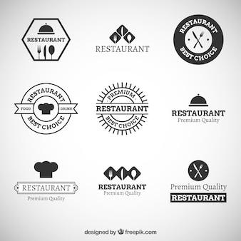 Black modern restaurant logos