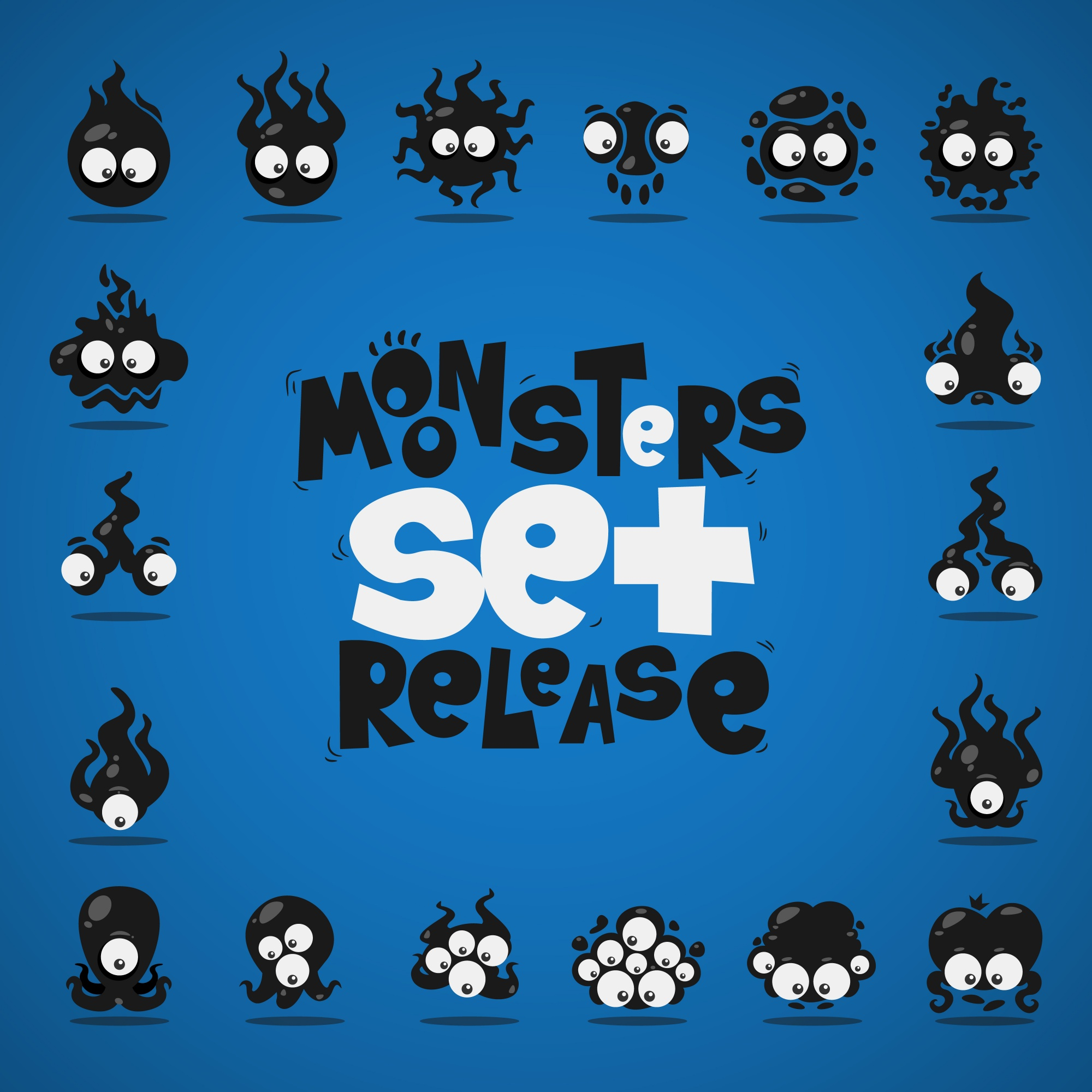 Black monsters collection