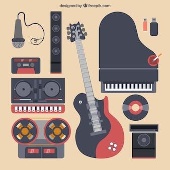 Black music instruments