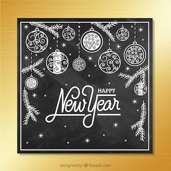 Black New Year Card