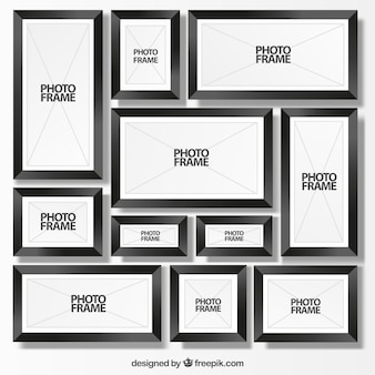 Black photo frames collection