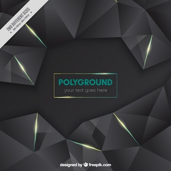Black polygonal background