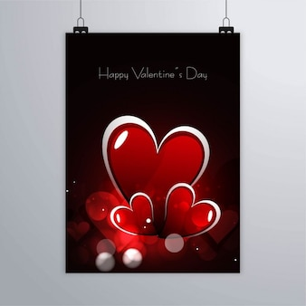 Black poster with hearts