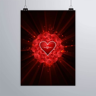 Black poster with red hearts