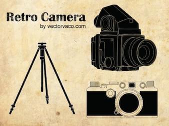 Black Rectro Camera
