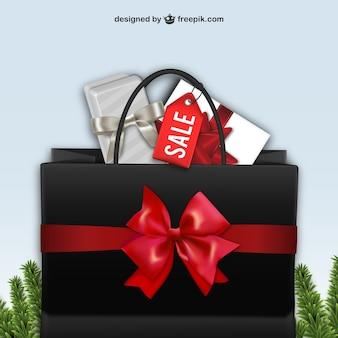 Black shopping bag for Black Friday