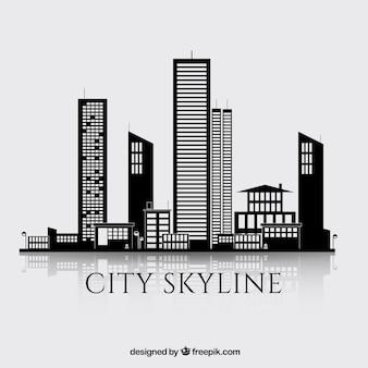 Black skyscrapers background