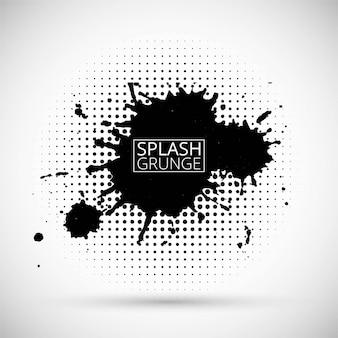 Black splash grunge background