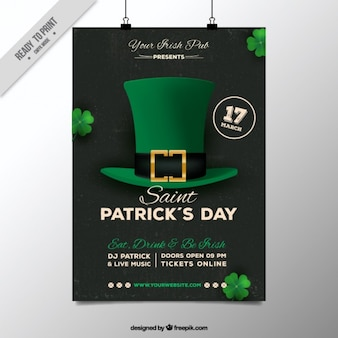 Black ST. Patrick's day poster