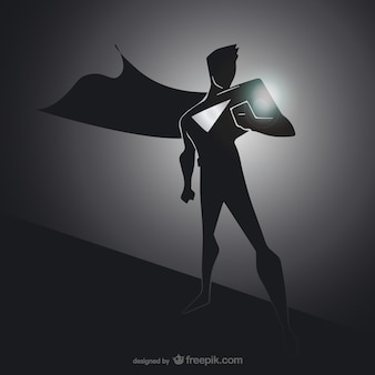 Black superhero silhouette