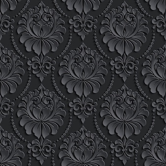Black vintage pattern design