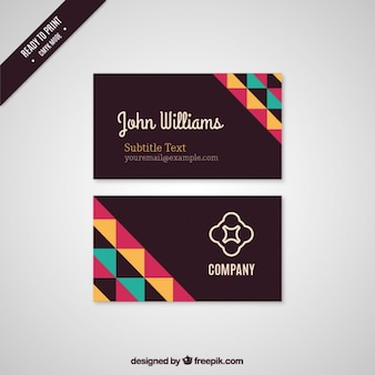 Black Visiting Card