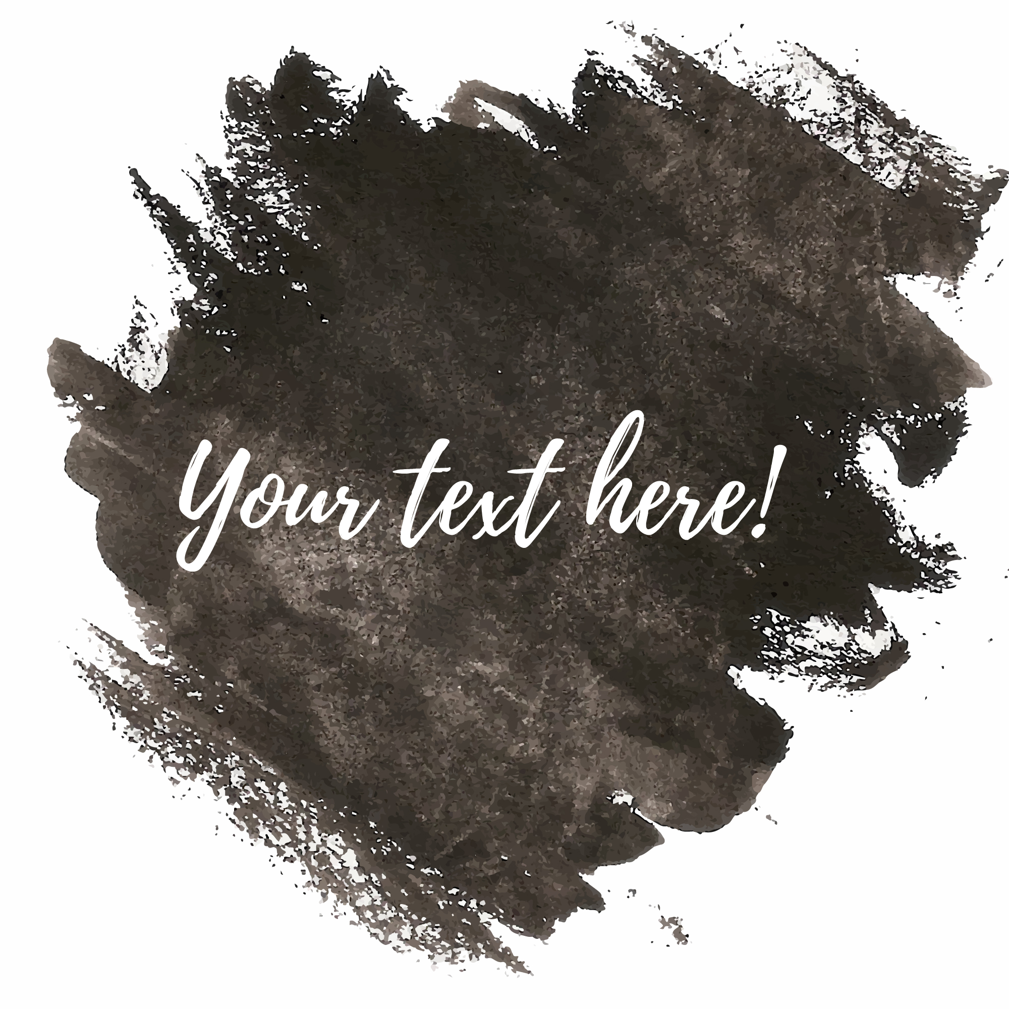 Black watercolor brushes with text template