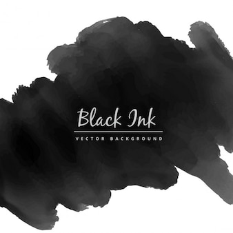 Black watercolor ink