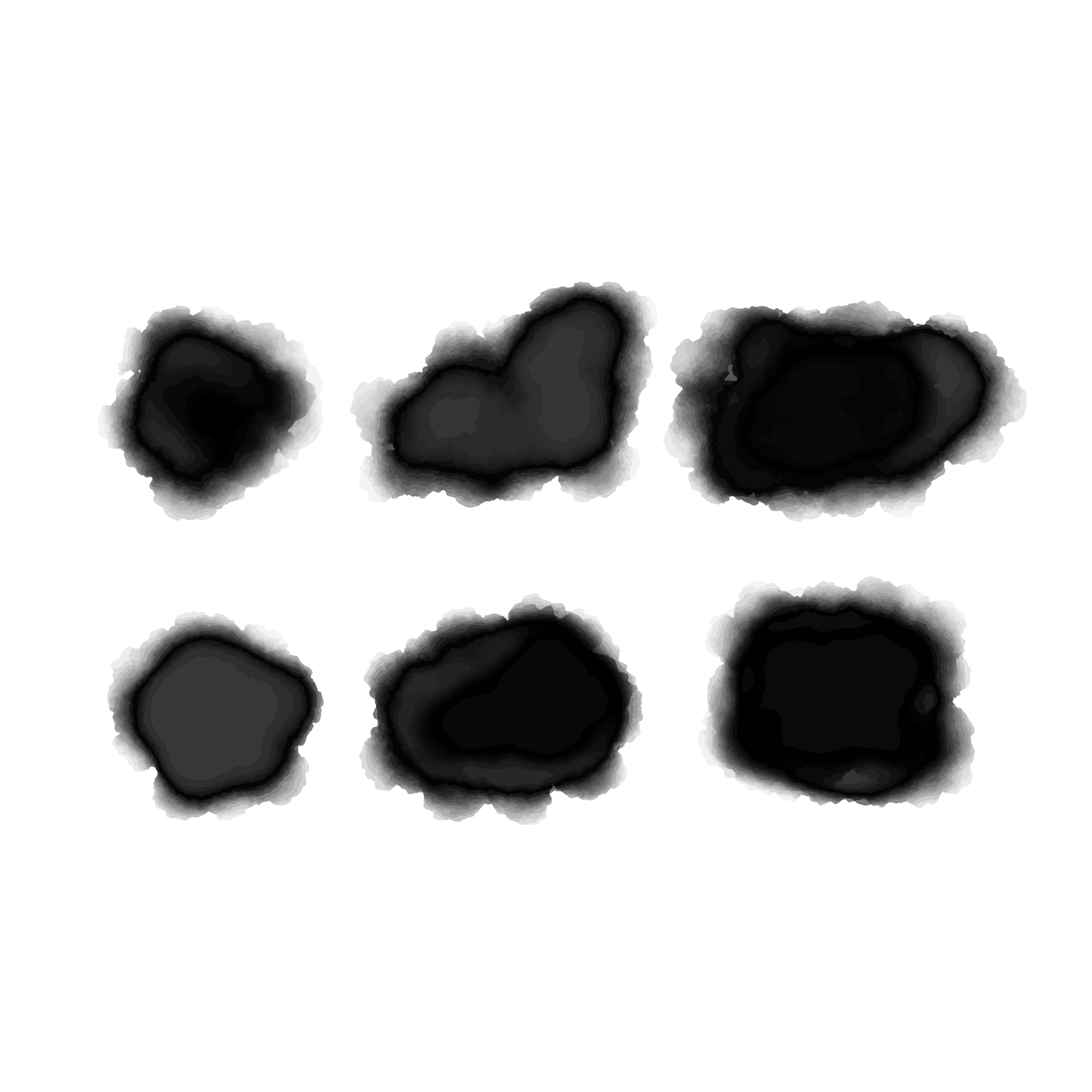 Black watercolor stain collection