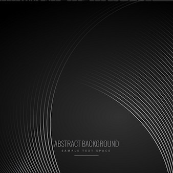 Black wavy abstract background